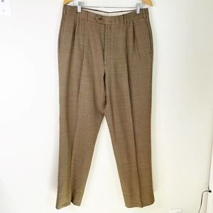 Vintage TOMMY HILFIGER Pleated Plaid Pants 34
